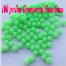 100 Perline  salvanodo fluorescenti Tonda - Coffa -Palamito