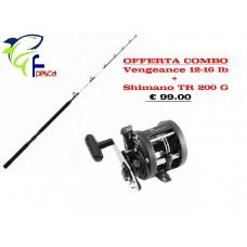 Combo Shimano Traina - Vengeance 16-20 lb + Mulinello TR 200 G