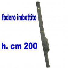 Fodero singolo imbottito MT 2 - porta canne con mulinello
