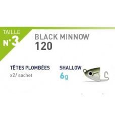 RICAMBIO BLACK MINNOW Testina SHALLOW 6 gr