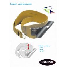 Cintura pesca con supporto porta-canna cm.135  alt. 6 cm