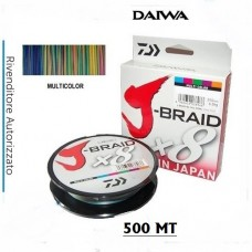 DAIWA J-BRAID 500MT.   Multicolor   -OFFERTA LANCIO-
