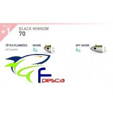RICAMBIO BLACK MINNOW Testina SHORE 3 gr